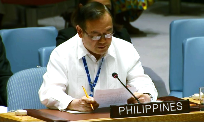 10dc75042ee Permanent Representative of the Philippines to the United Nations Teodoro  L. Locsin