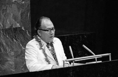 Afioga Tupua Tamasese Lealofi IV, Addressing the General Assembly, 15 December 1976