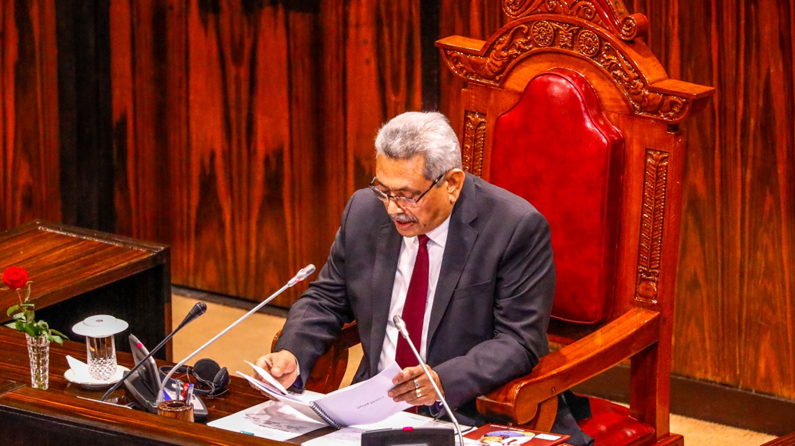 The policy statement made by His Excellency Gotabaya Rajapaksa ...