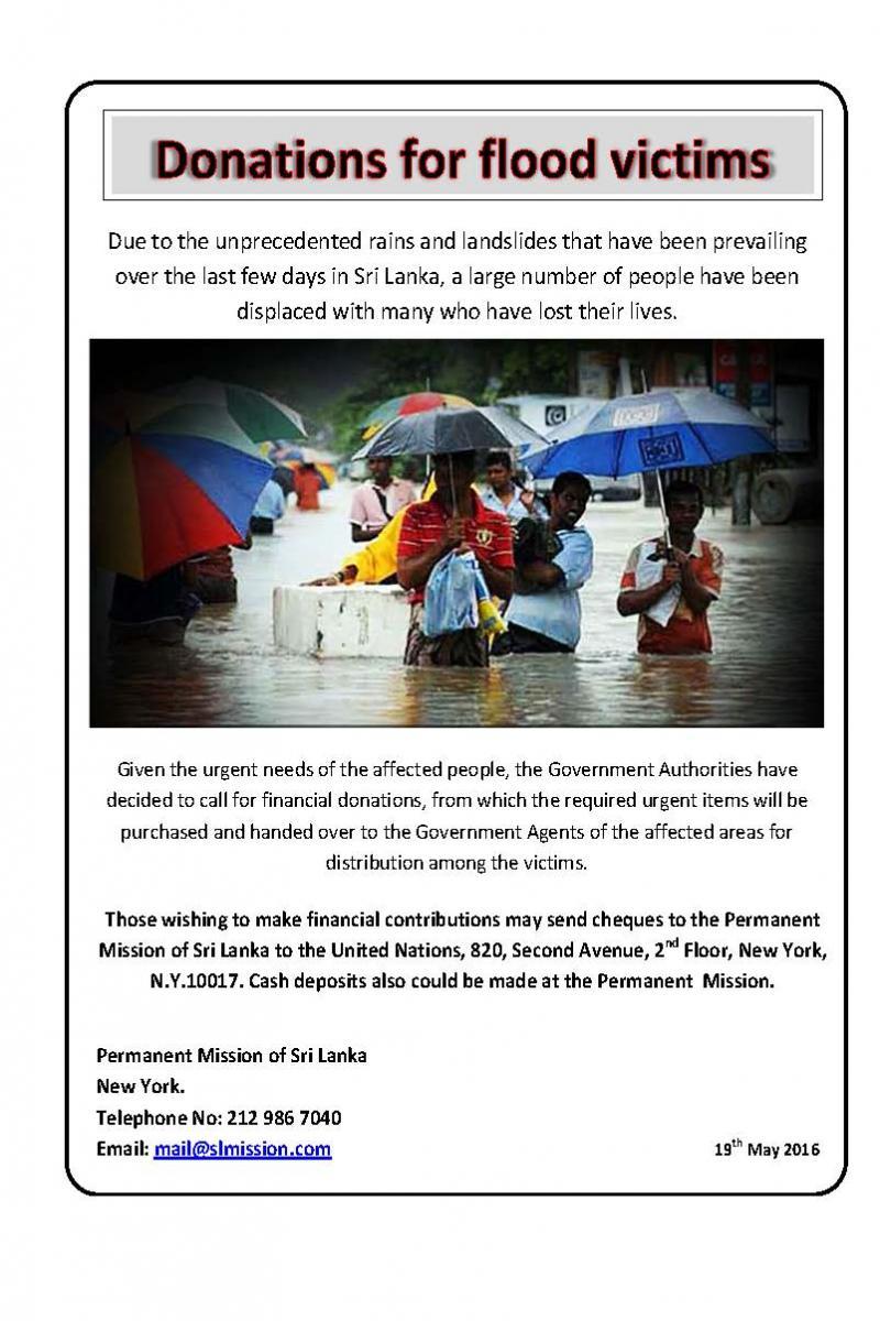 Donations For Flood Victims Sri Lanka